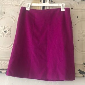 French connection magenta wool pencil skirt